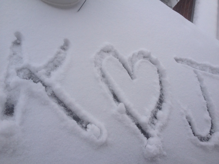 in the snow, on the porch, in my heart