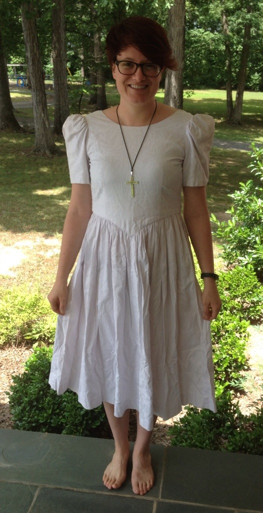 My Confirmation Dress and Commissioning Cross