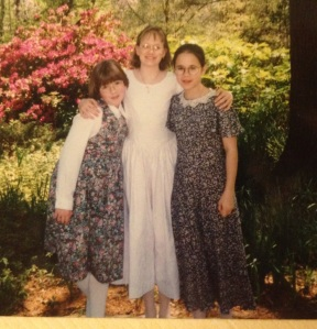 My Confirmation Celebration with Beth and Julie in 1995